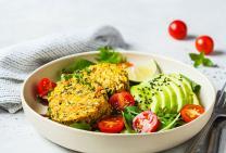 Vegie and avo breaky salad