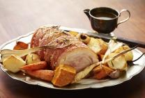 Salt Crusted Pork Roast with Gravy