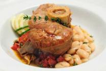 Veal osso bucco with citrus zest tomatoes & cannellini beans