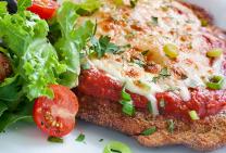 chicken parma crumbed schnitzel parmigiana