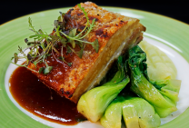 ow Roasted Pork Belly with Crackling and Apple Cider Gravy