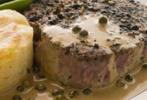 Rump Steak with Creamy Peppercorn Sauce