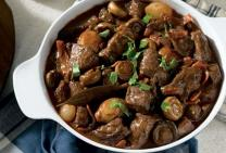 French beef bourguignon casserole