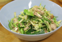 pulled pork brussel sprout apple salad