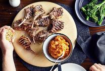 Oregano Lamb Cutlets with Sweet Potato Mash