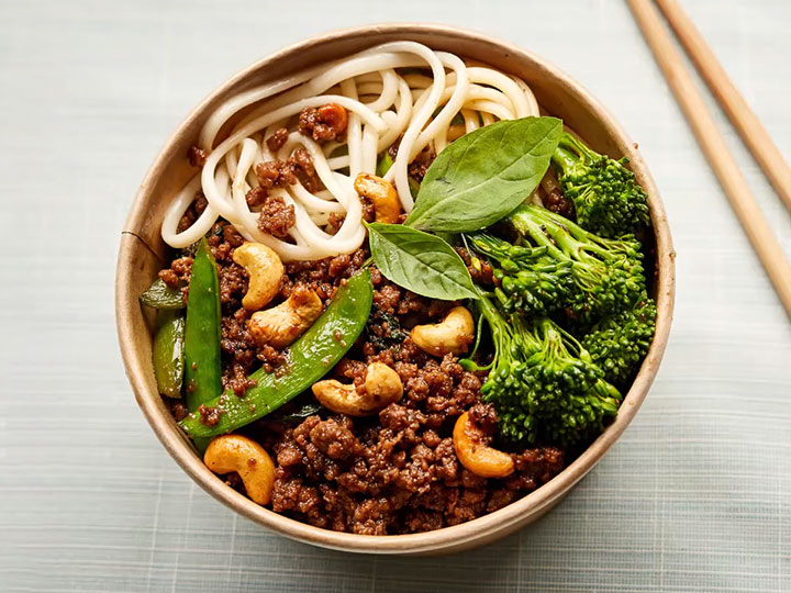 Caramelised beef mince stir fry