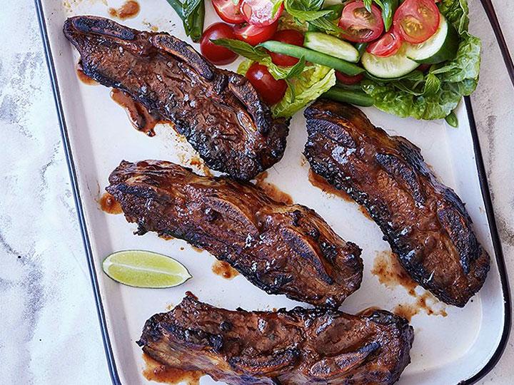 Tamarind beef asado ribs short ribs