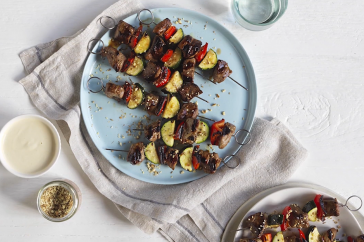 butterflied lamb leg skewers